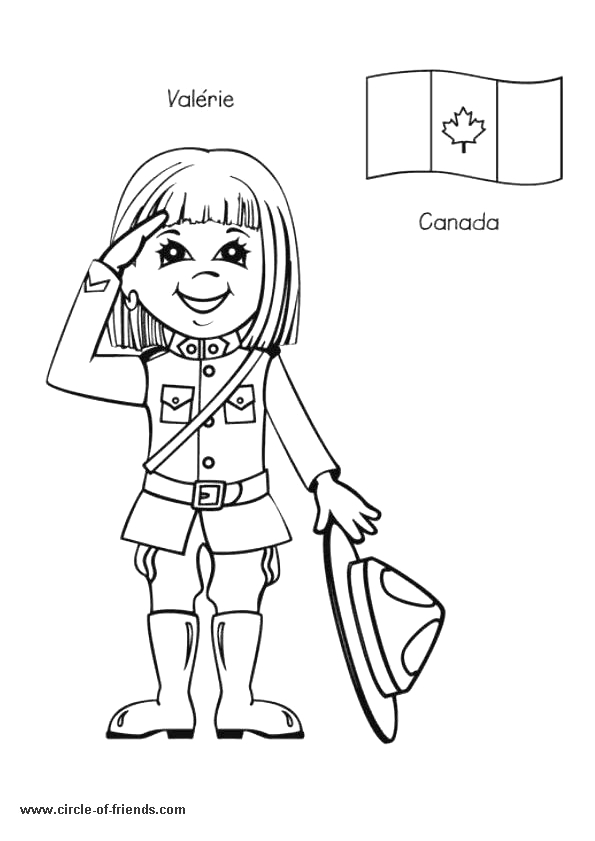 canada colouring pages