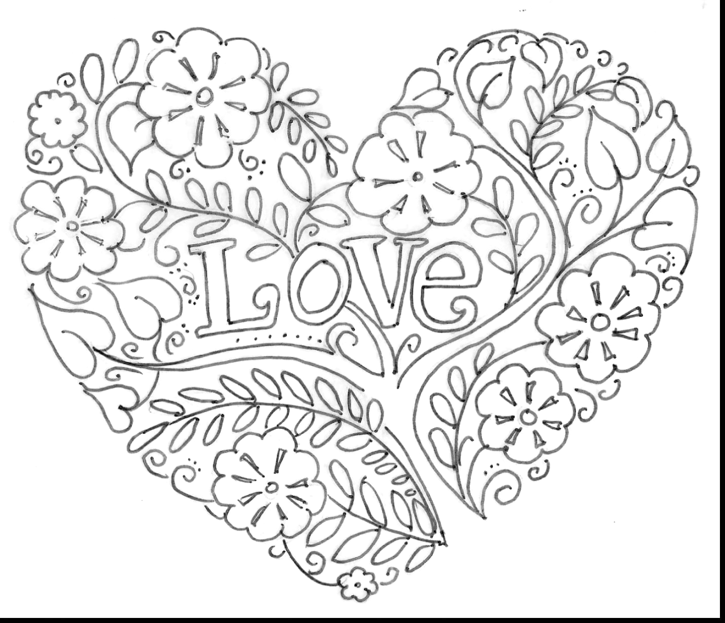 broken heart tattoo coloring pages for
