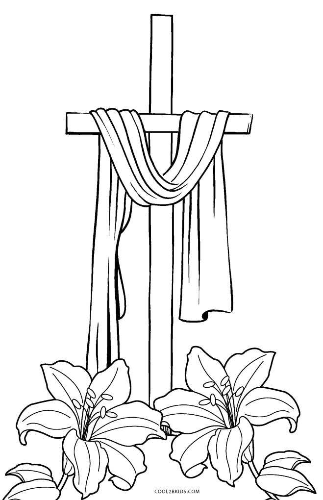 Coloring Page Of A Cross to Print Free Printable Cross Coloring Pages for Kids