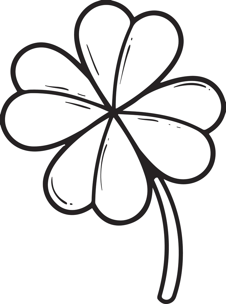 Coloring Page Of A Four Leaf Clover Printable Four Leaf Clover Coloring Page for Kids – Supplyme