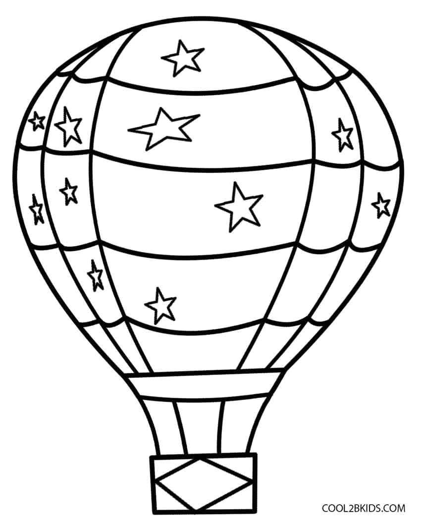 Coloring Page Of A Hot Air Balloon Printable Hot Air Balloon Coloring Pages for Kids