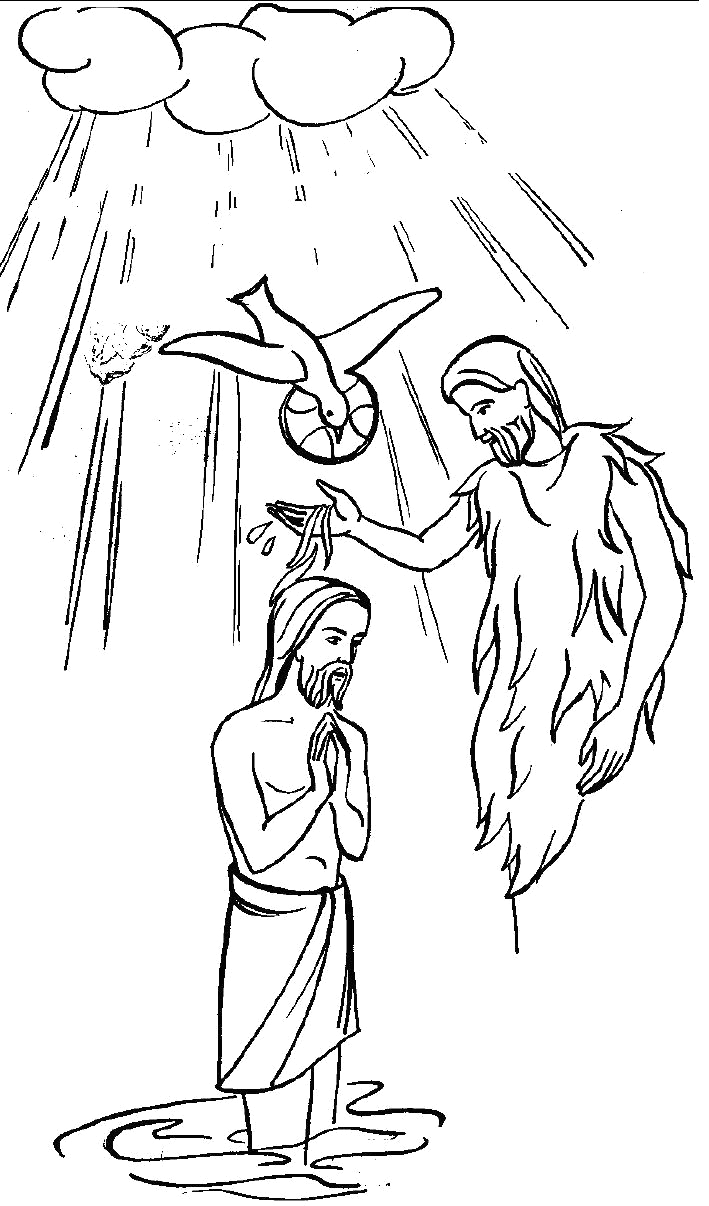 77 baptism of jesus coloring page