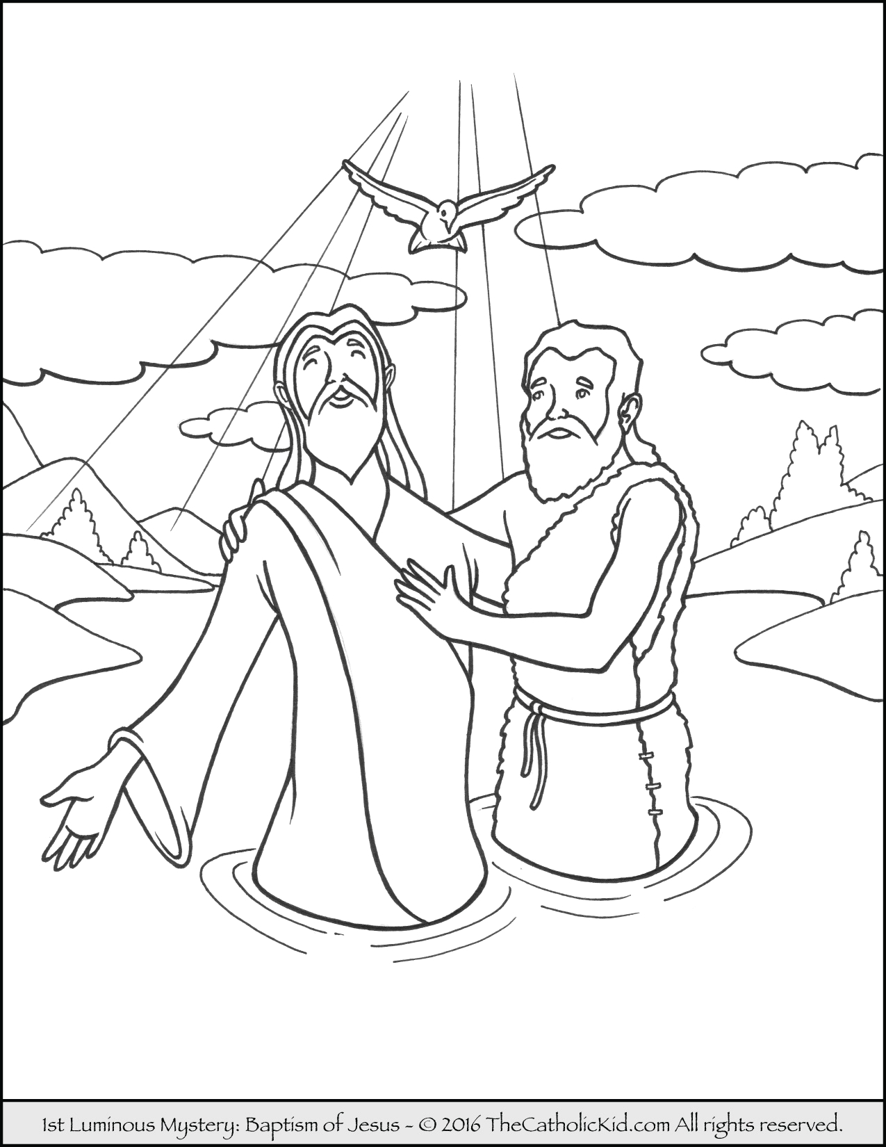 john the baptist coloring pages printable