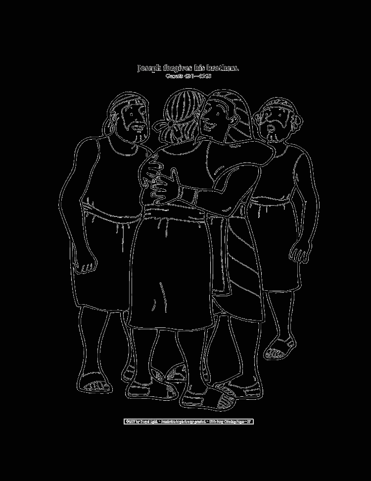 Coloring Page Of Joseph forgiving His Brothers 32 Joseph forgives His Brothers Coloring Sheet