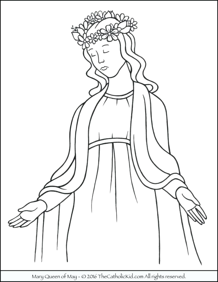 Coloring Page Of Mary Mother Of Jesus Mary Mother Jesus Coloring Pages at Getcolorings