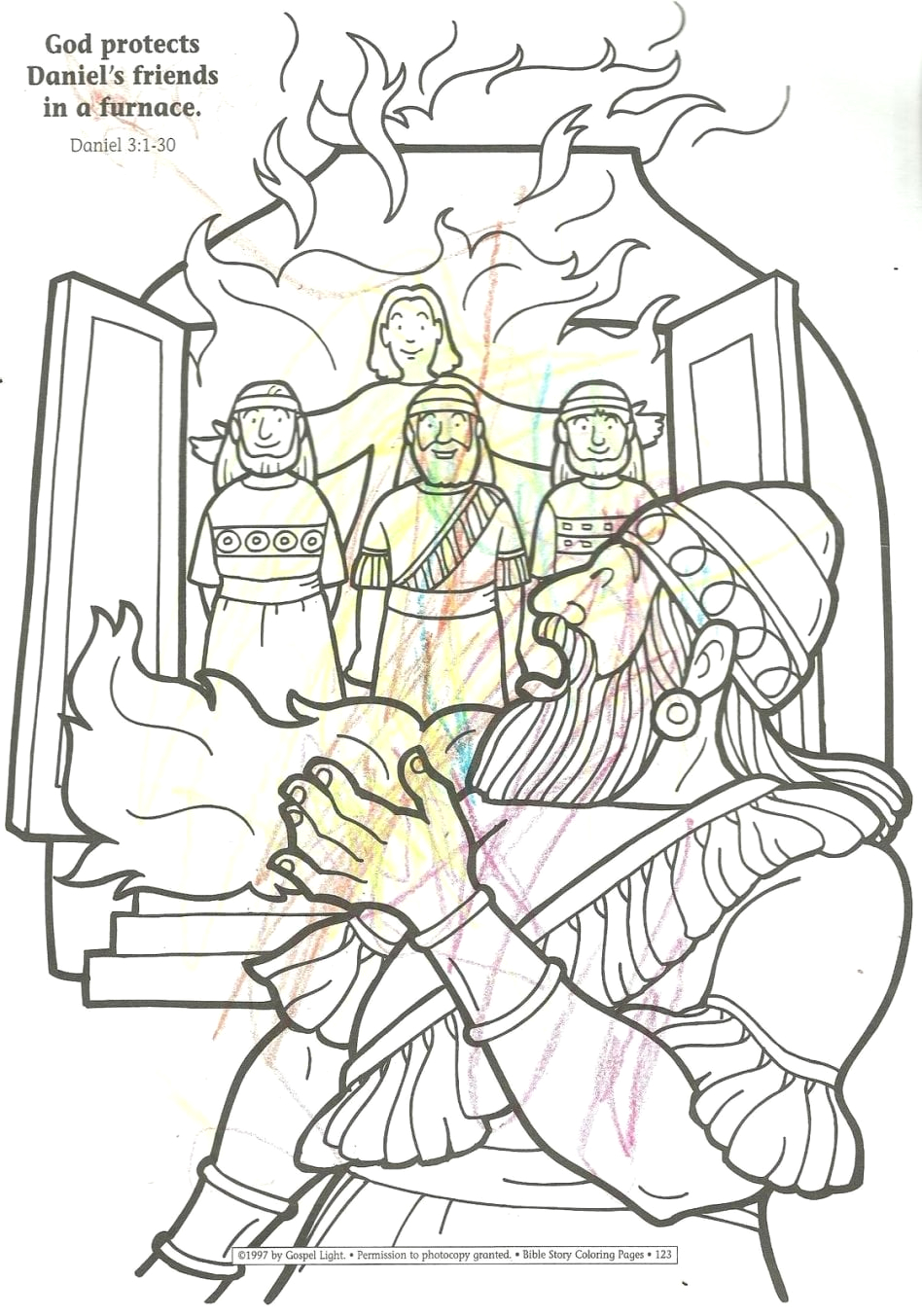 Coloring Page Of Shadrach Meshach and Abednego Shadrach Meshach and Abednego Coloring Page Neo Coloring