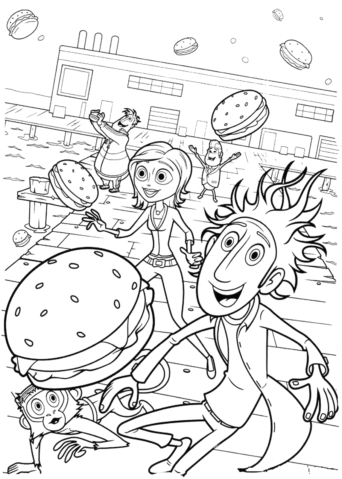 cloudy chance meatballs coloring pages