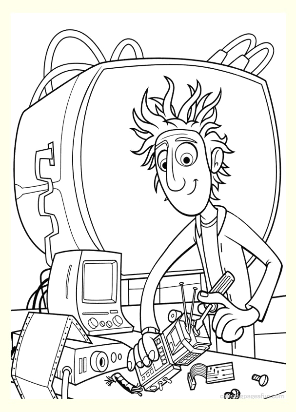 image=cloudy with a chance of meatballs Coloring for kids cloudy with a chance of meatballs 1