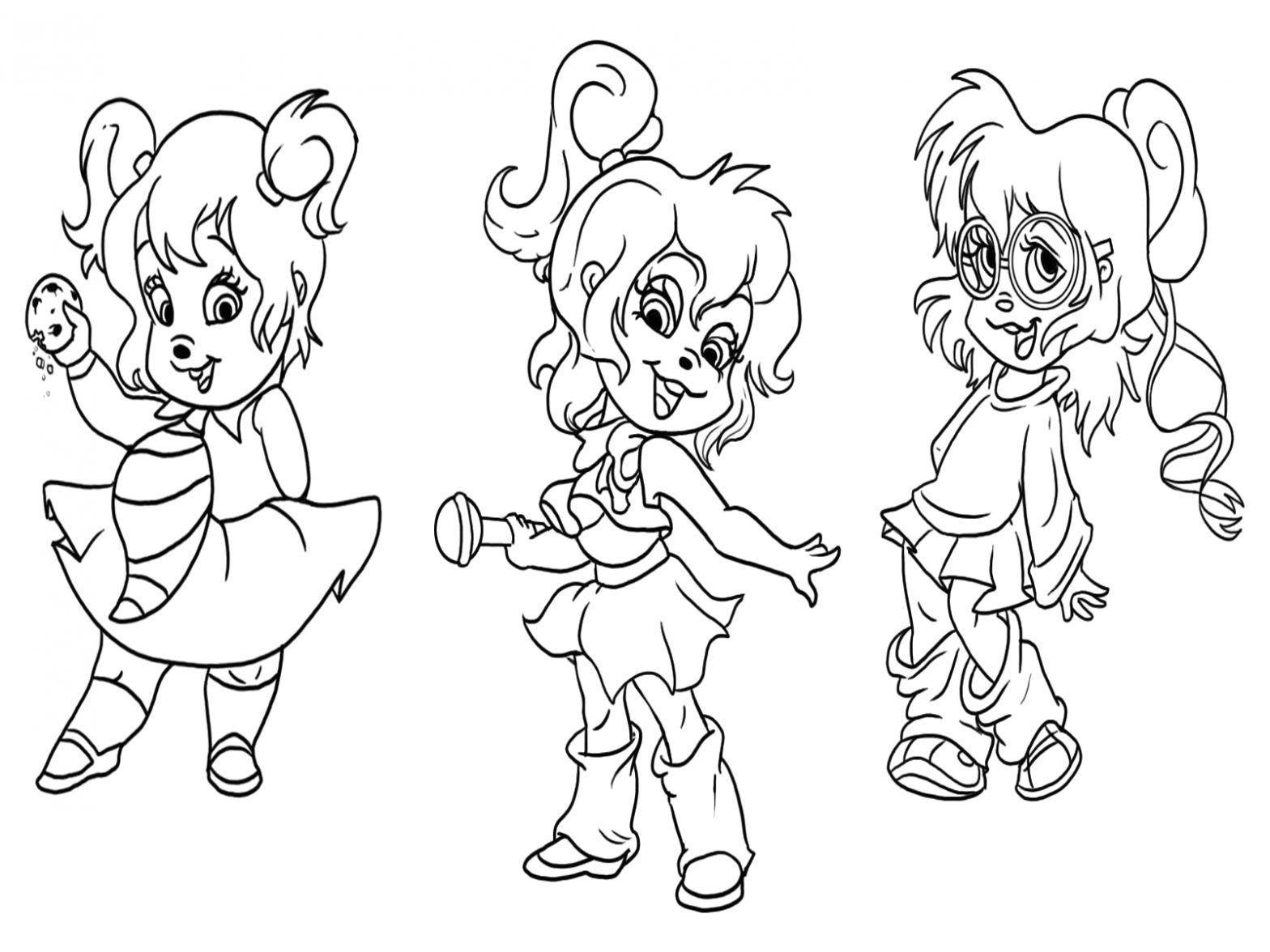 Coloring Pages Of Alvin and the Chipmunks and the Chipettes Free Printable Chipettes Coloring Pages for Kids