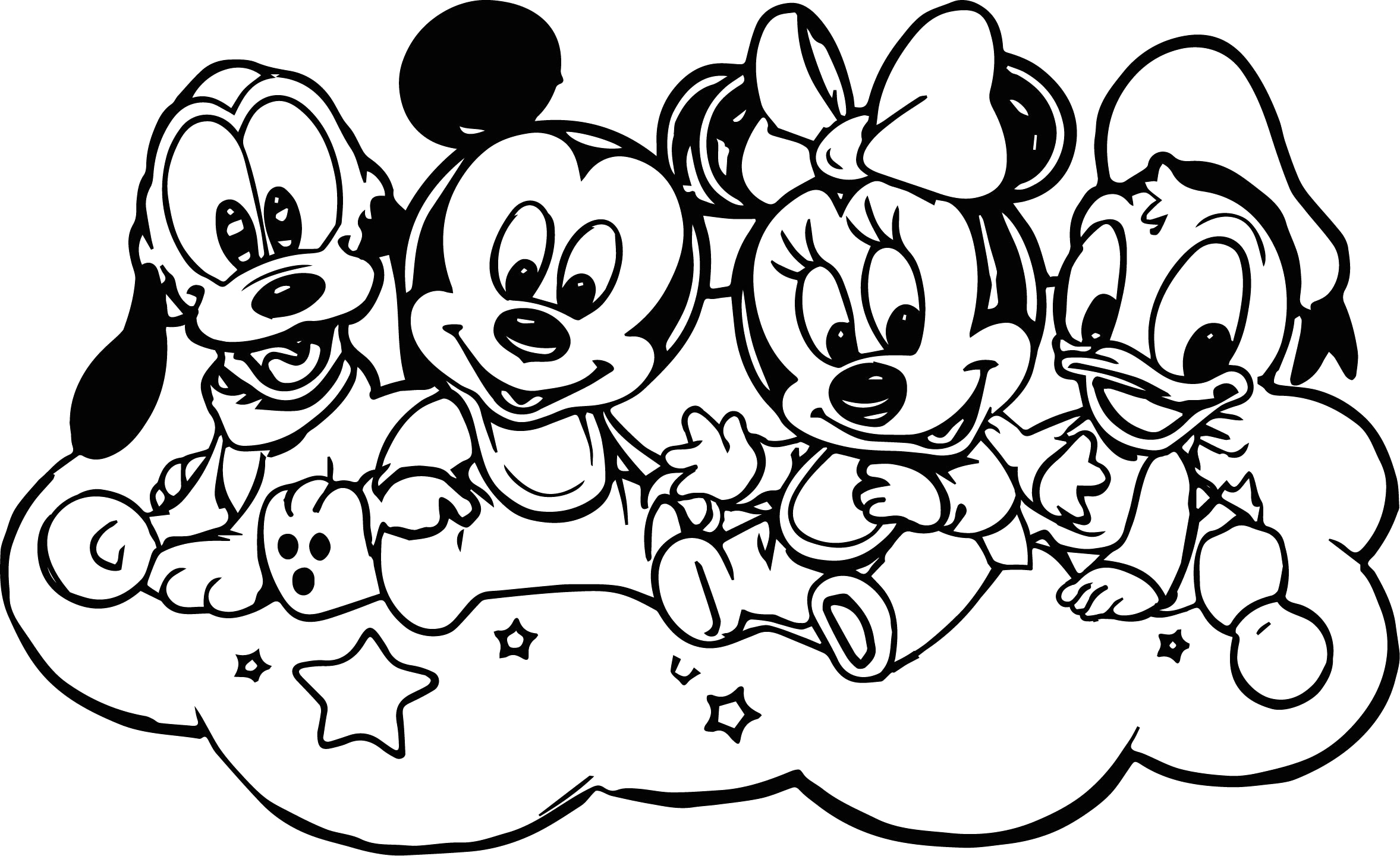 Coloring Pages Of Baby Mickey Mouse and Friends Baby Mickey and Friends Coloring Page