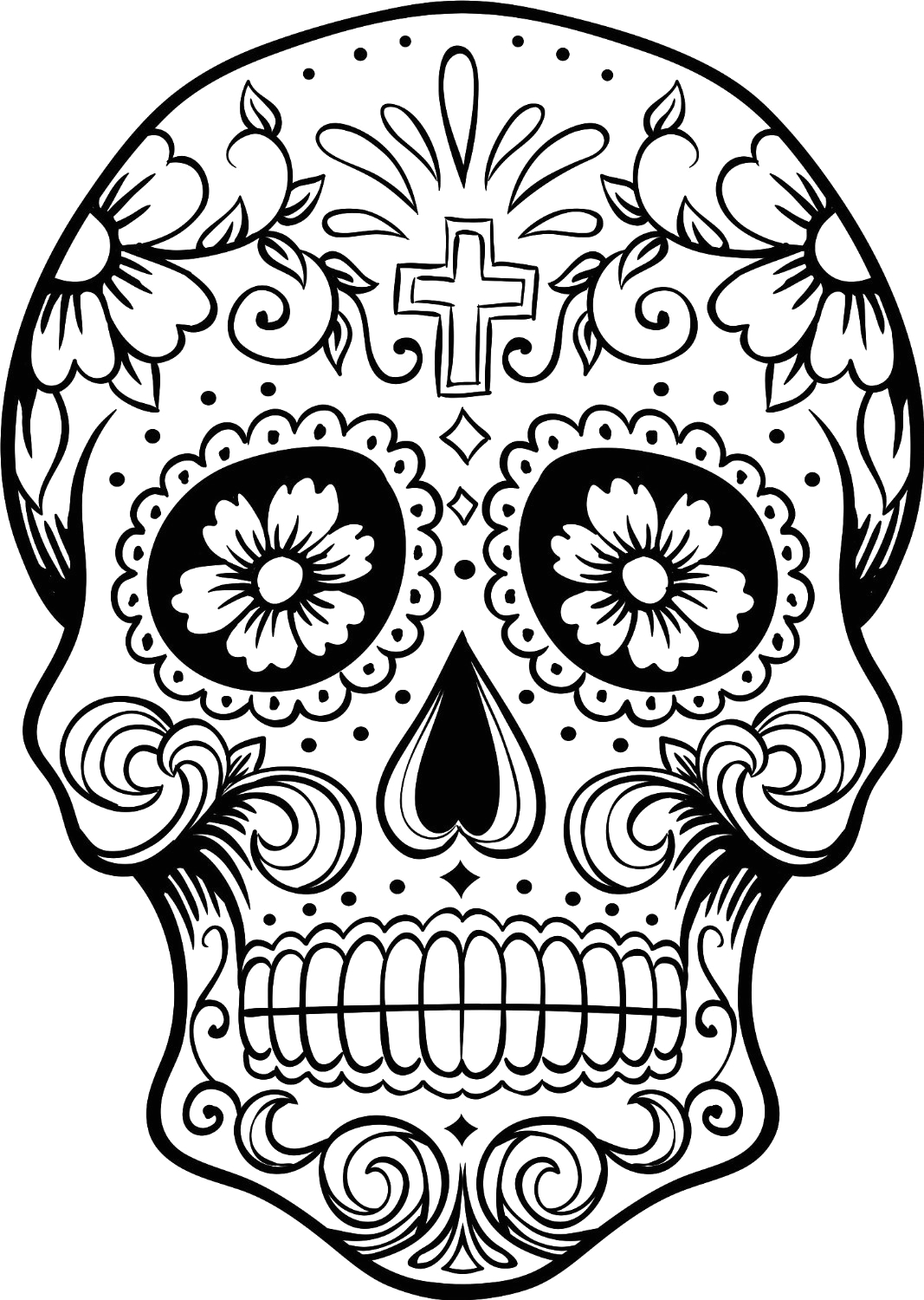 Coloring Pages Of Day Of the Dead Skulls Free Printable Day Of the Dead Coloring Pages Best