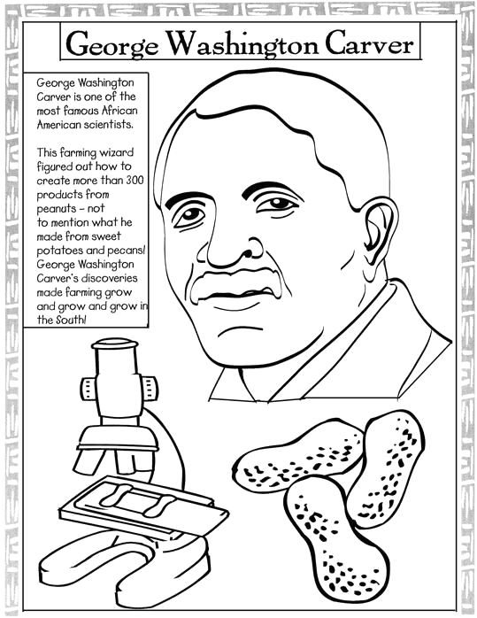 Coloring Pages Of Famous African American Inventors Free African American Coloring Pages for Kids at