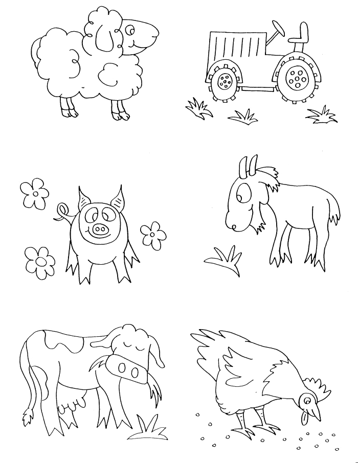 free coloring pages baby farm animals