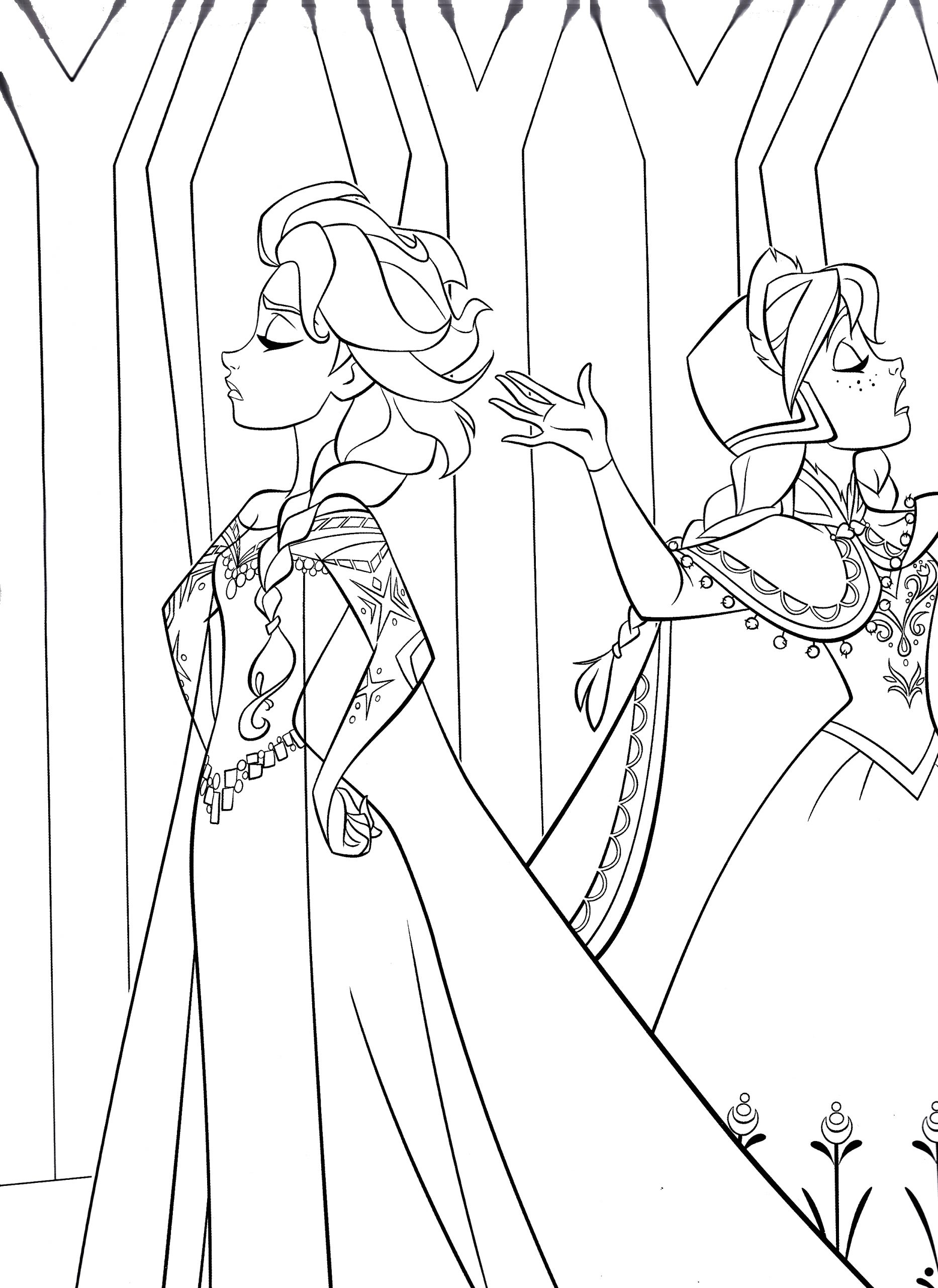 Coloring Pages Of Frozen Characters to Print Free Printable Frozen Coloring Pages for Kids Best