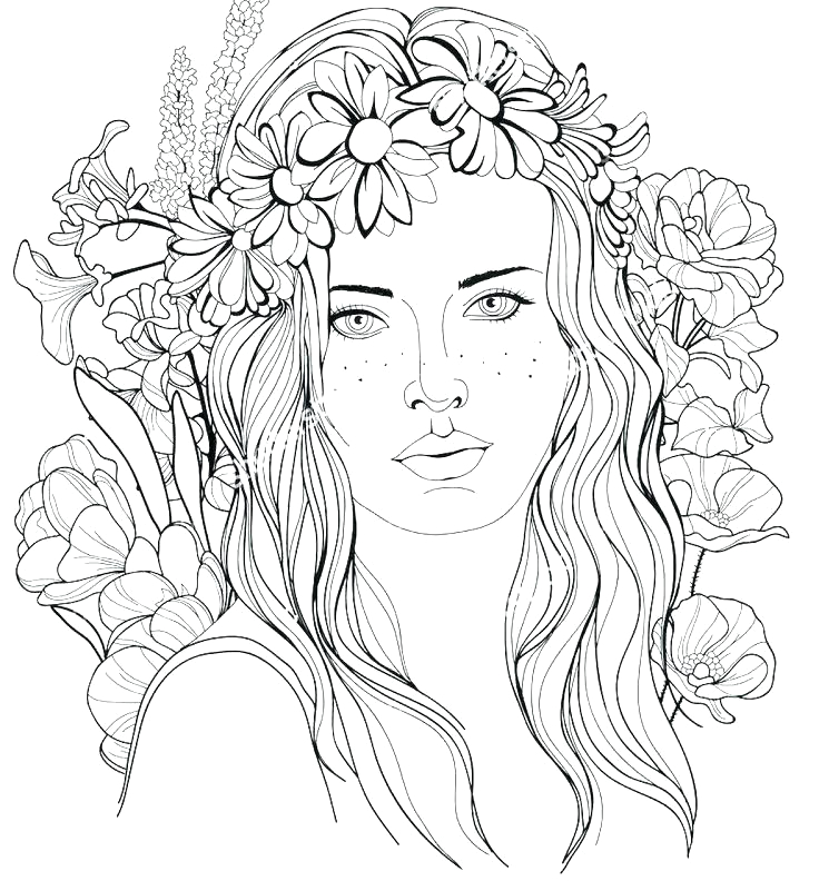 hair brush coloring page