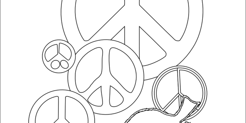 post printable coloring pages peace hearts