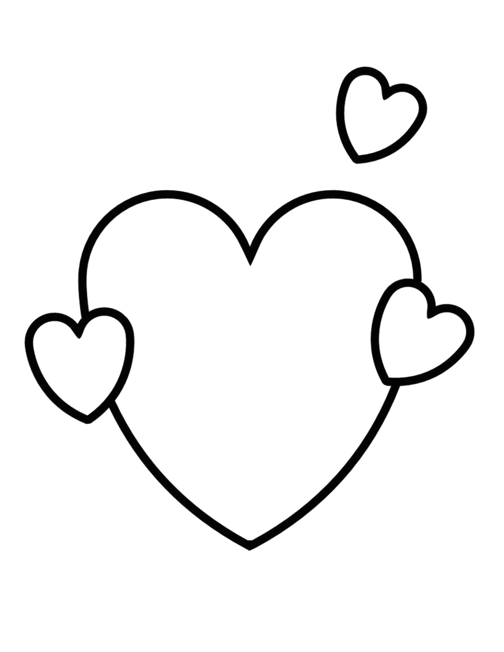 valentine heart coloring pages