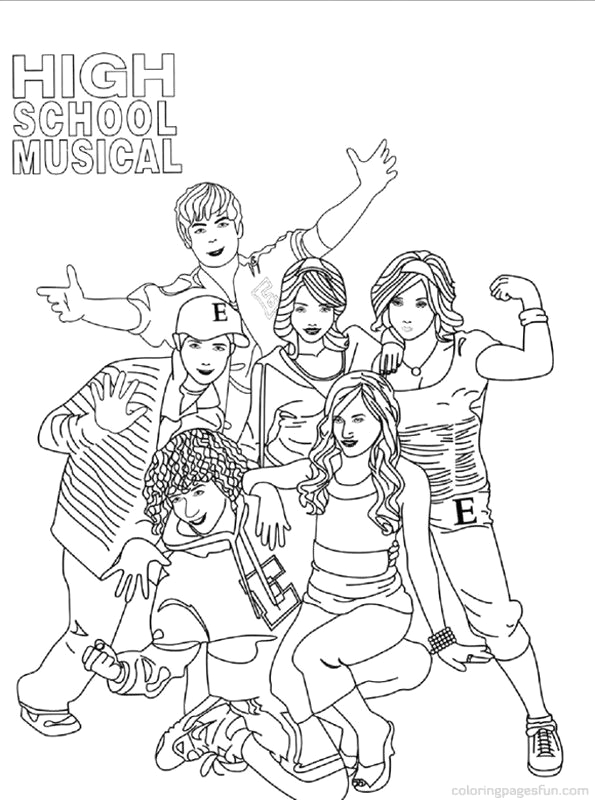 Coloring Pages Of High School Musical 3 High School Musical Coloring Pages 3 Free Printable