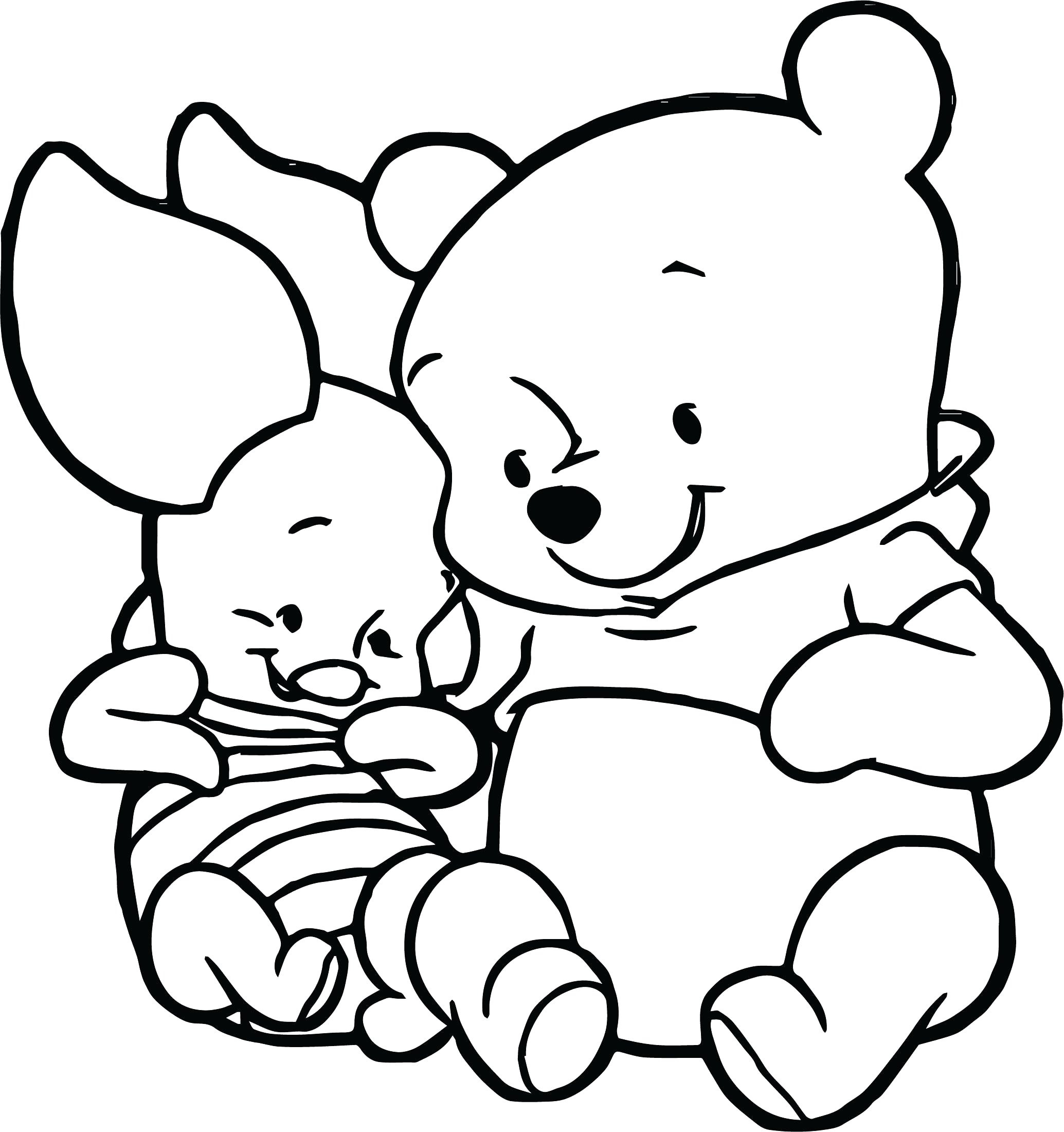 Coloring Pages Of Winnie the Pooh as Babies Winnie the Pooh Coloring Pages at Getcolorings