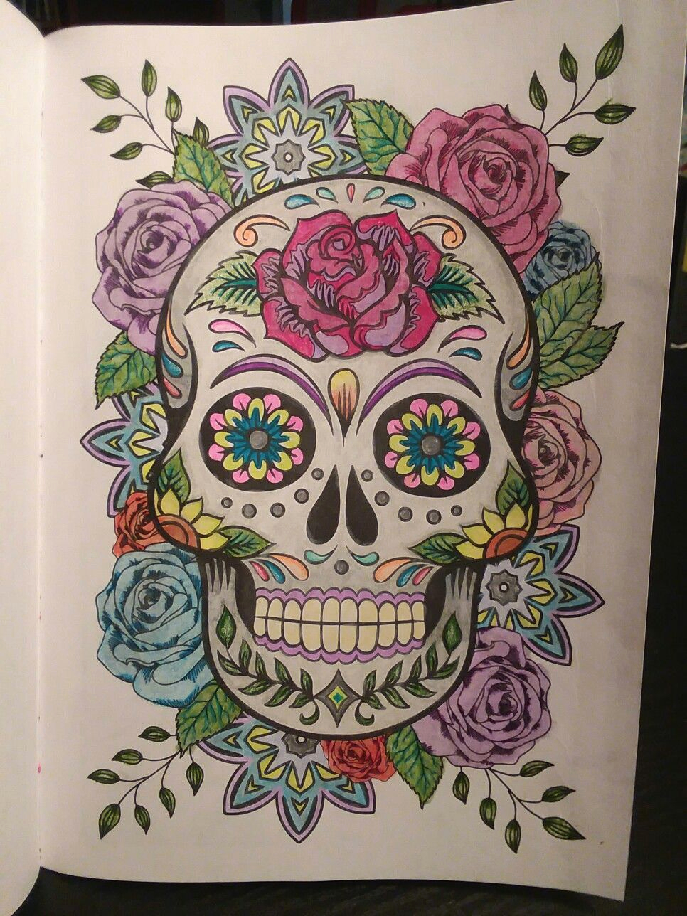 Day Of the Dead Coloring Pages Already Colored Day Of the Dead Advanced Coloring Book Bendon with Images