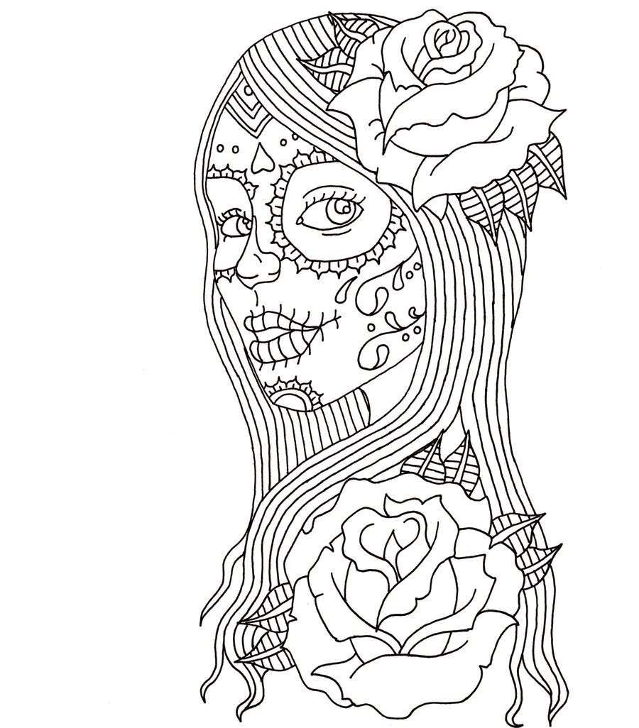 Day Of the Dead Coloring Pages for Kids Free Printable Day Of the Dead Coloring Pages Best