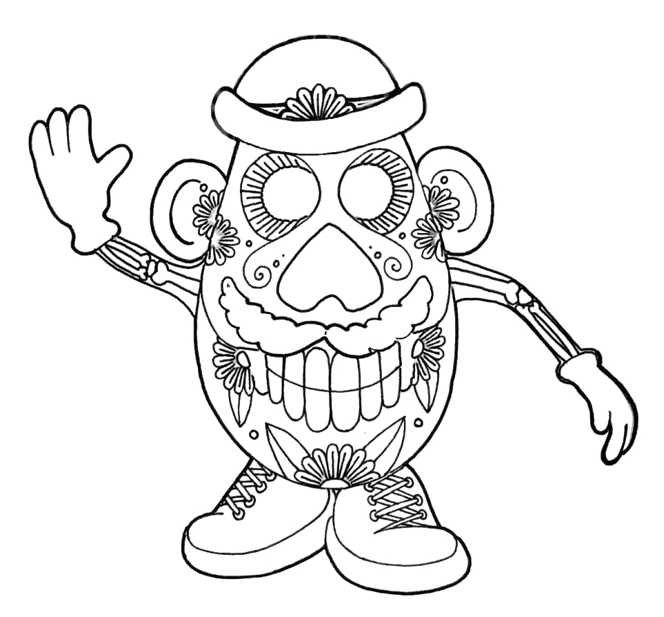 Day Of the Dead Coloring Pages Online Get This Day Of the Dead Coloring Pages Line Printable