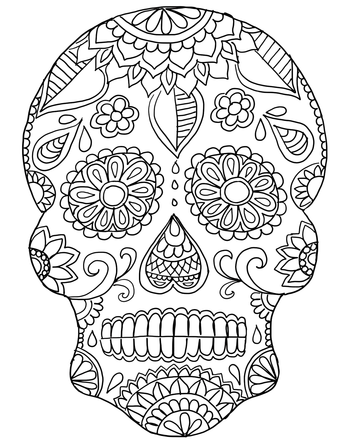 Day Of the Dead Coloring Pages Pdf Day the Dead Coloring Pages Pdf at Getcolorings