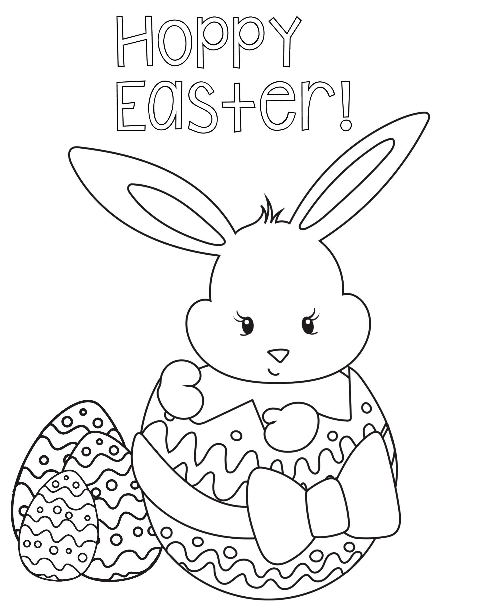 Easter Coloring Pages for Kids to Print Happy Easter Coloring Pages Best Coloring Pages for Kids