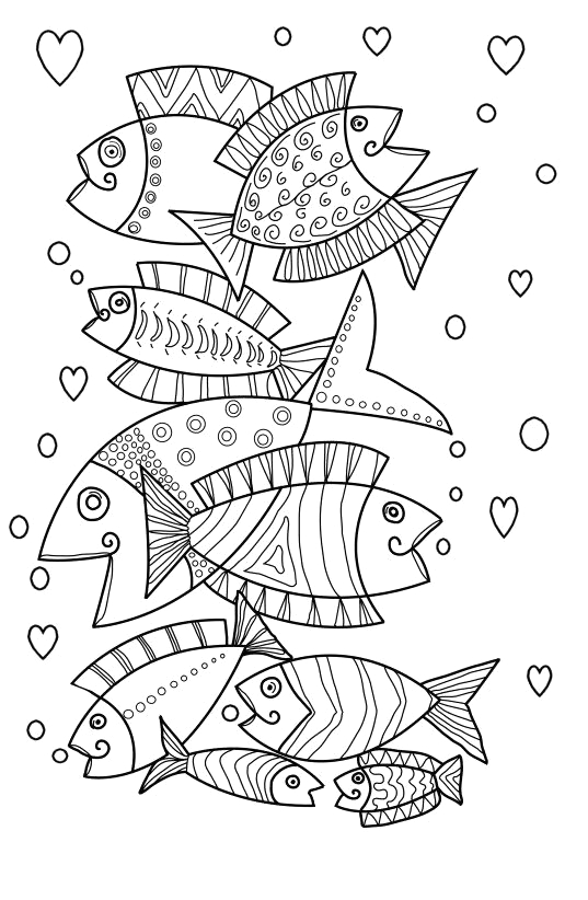 easy coloring pages for dementia