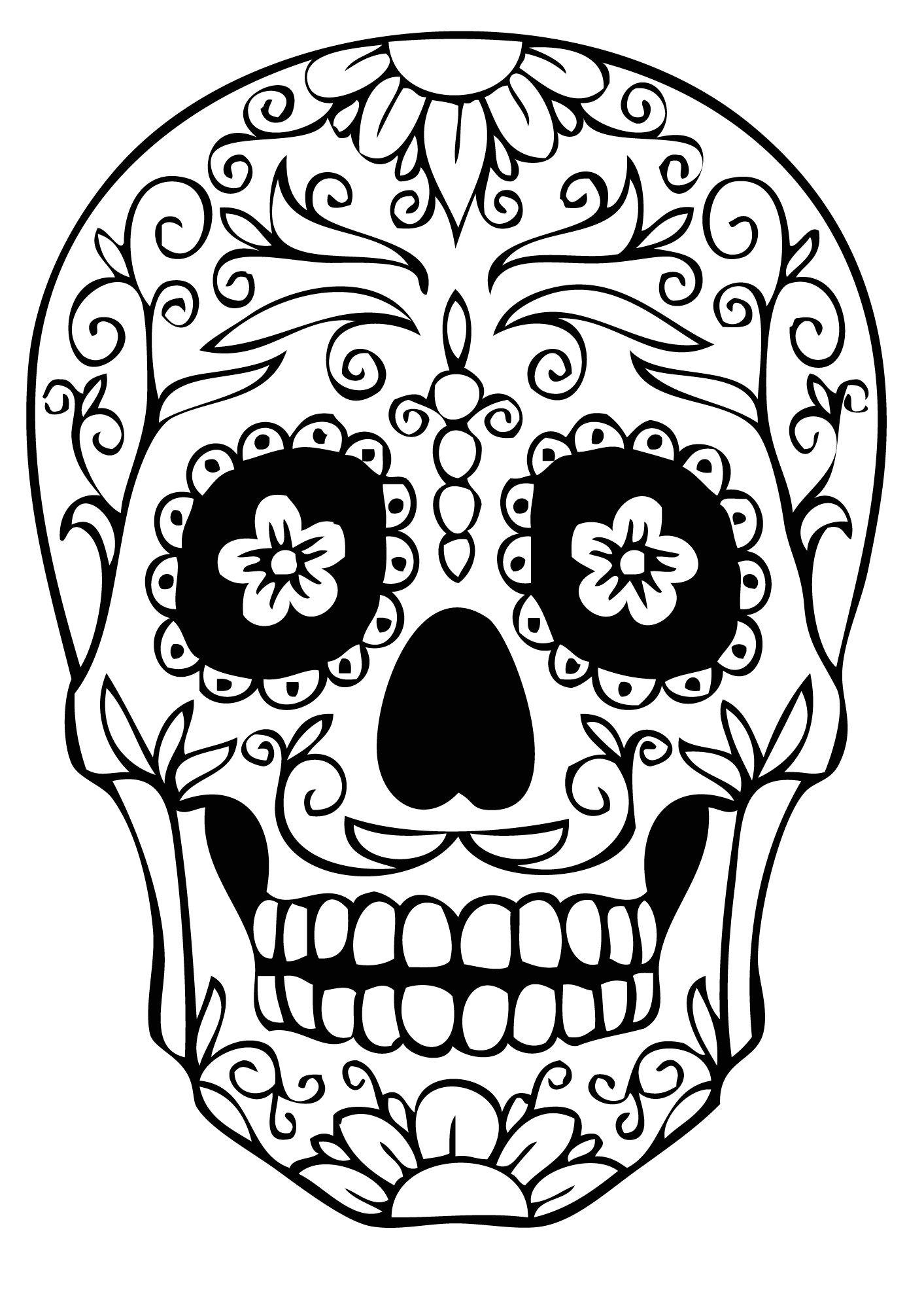 Easy Day Of the Dead Coloring Pages for Kids Dia De Los Muertos Day Of the Dead for Children Dia De