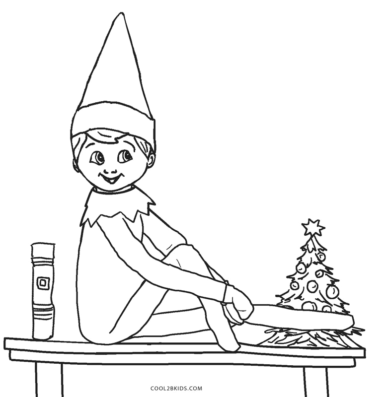 Elf On A Shelf Coloring Pages Printable Free Printable Elf Coloring Pages for Kids