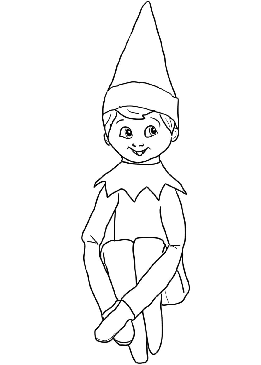 Elf On the Shelf Boy Coloring Pages Baby Elf the Shelf Coloring Pages Design Collection