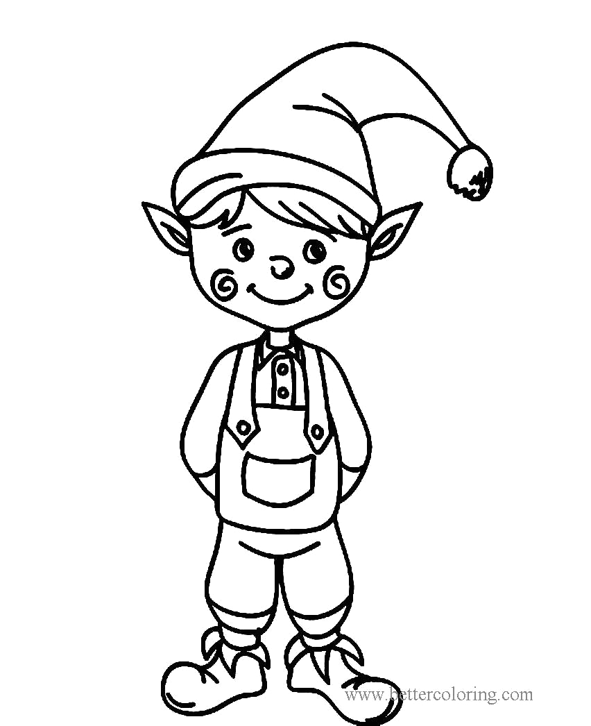 boy from elf on the shelf coloring pages