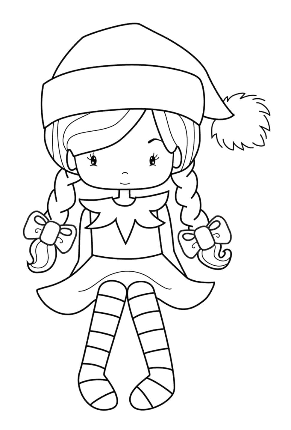 elf on the shelf coloring pages