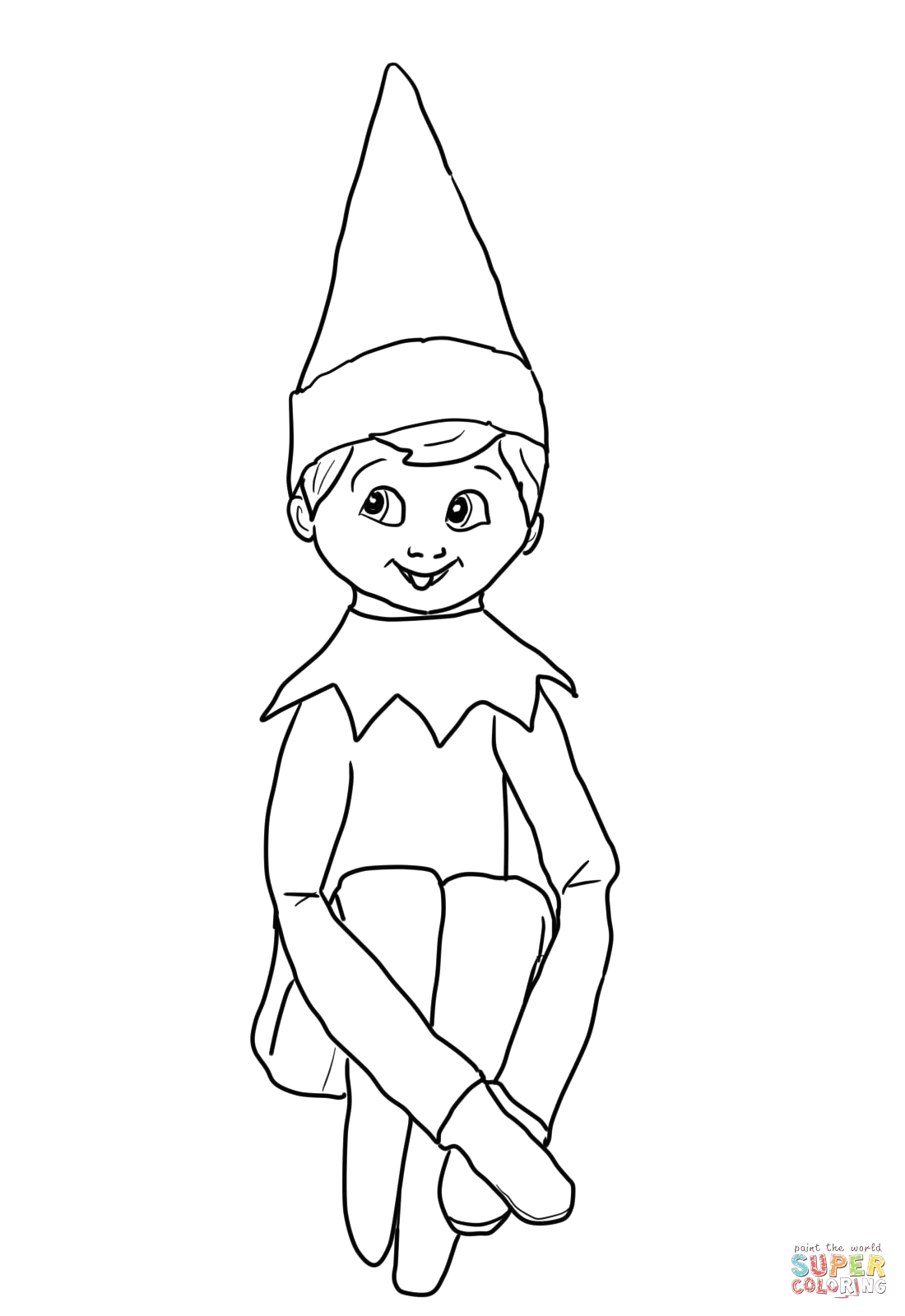 Elf On the Shelf Coloring Pages Girl Pin On Lenny the Elf