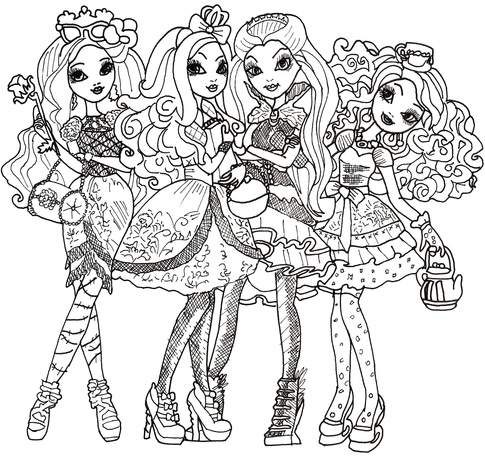Ever after High Coloring Pages to Print Free Printable Ever after High Coloring Pages Ever after
