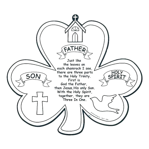 Father son Holy Spirit Shamrock Coloring Page Holy Trinity Coloring Page at Getdrawings