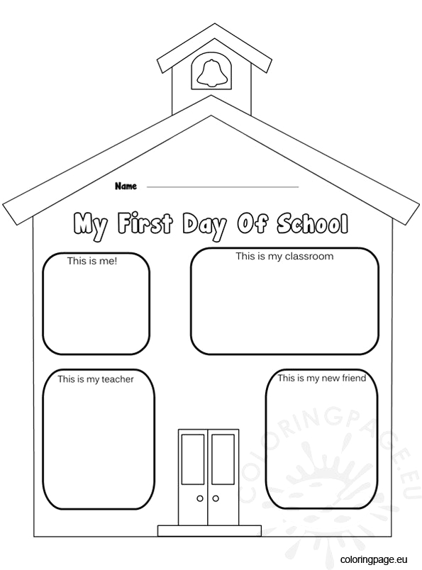 first day school coloring page
