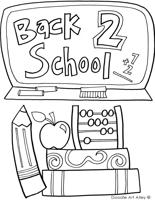first day of school coloring pages pictures