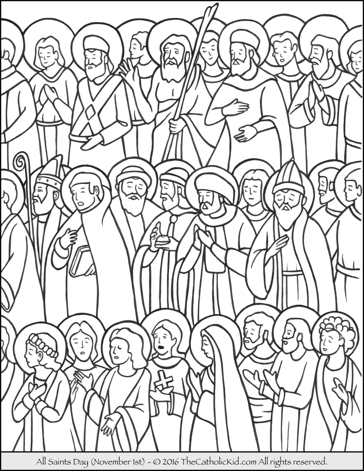 Free Coloring Pages for All Saints Day All Saints Day Coloring Page