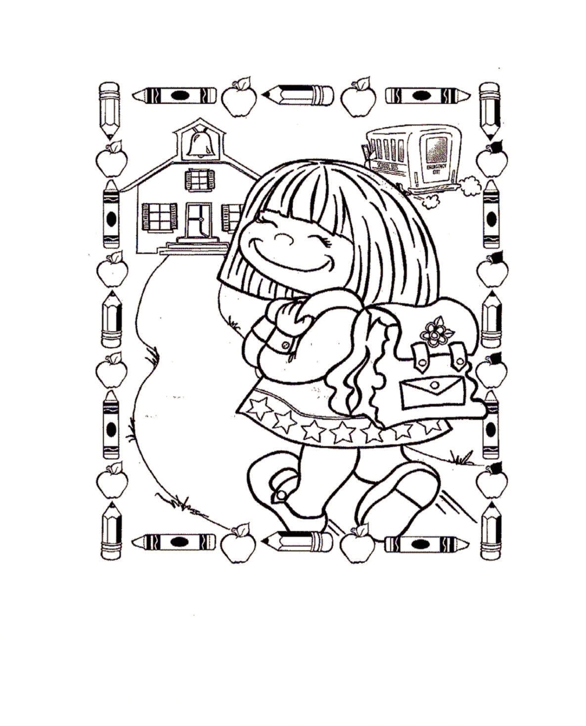 first day of school coloring pages for kindergarten