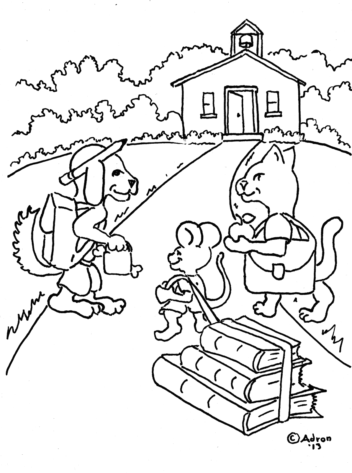 first day school of coloring pages