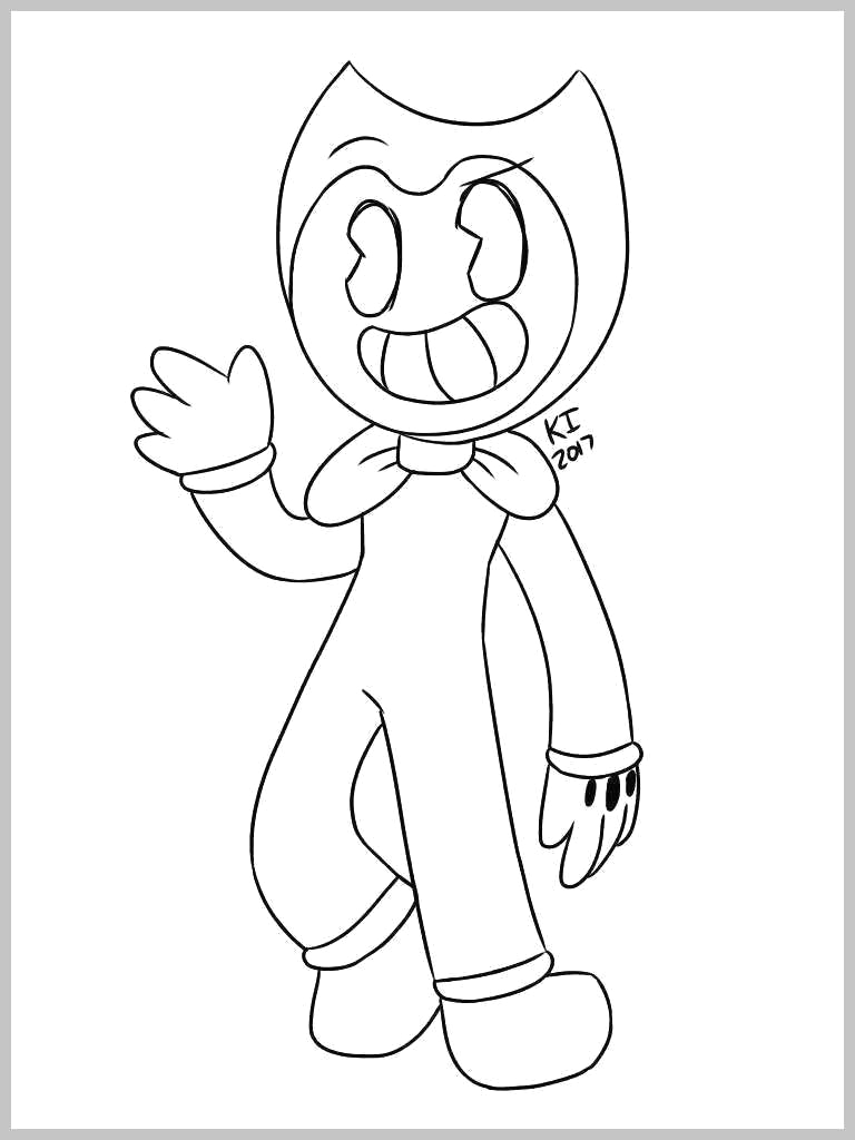 bendy and the ink machine coloring template