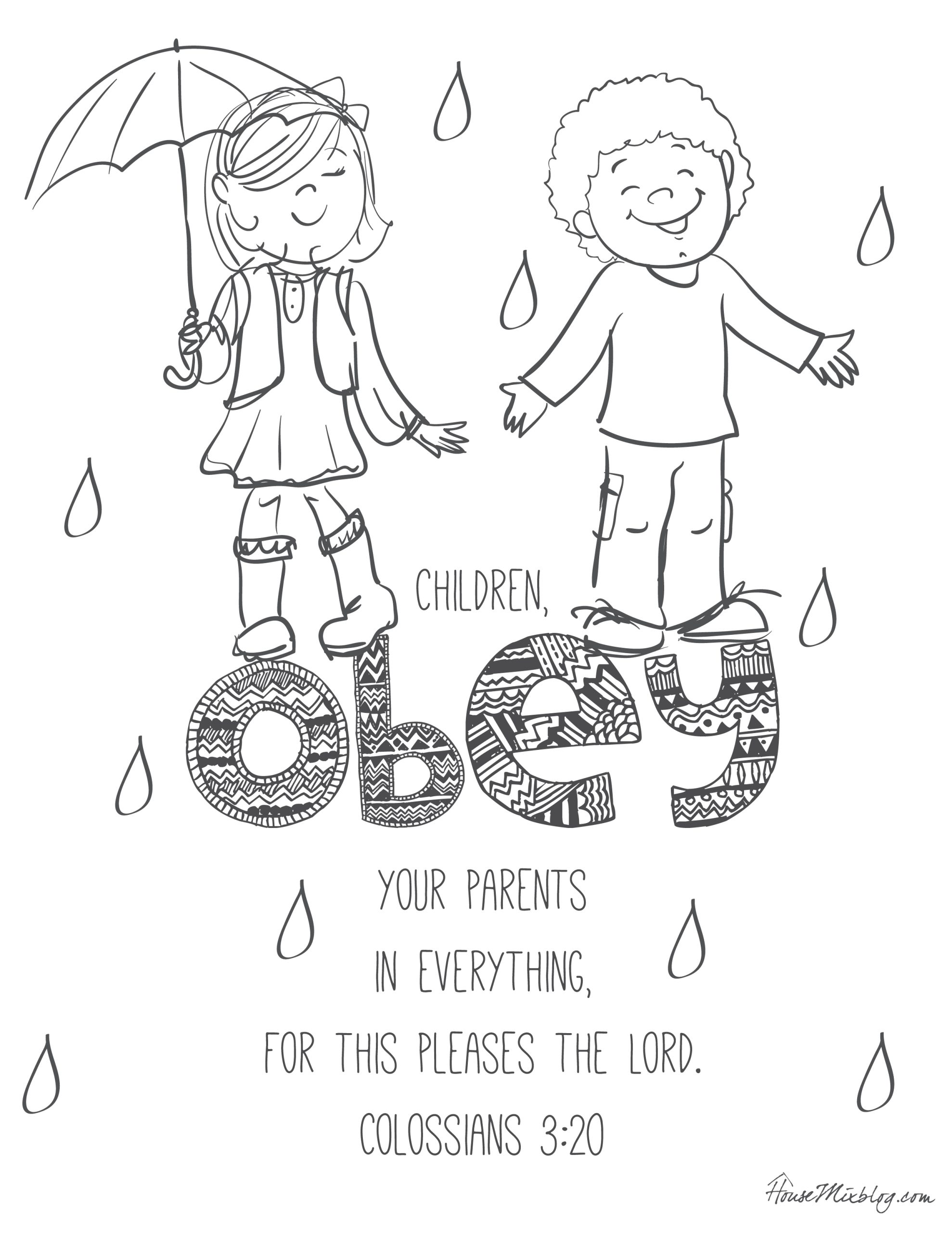 Free Printable Bible Coloring Pages for Children 11 Bible Verses to Teach Kids with Printables – House Mix