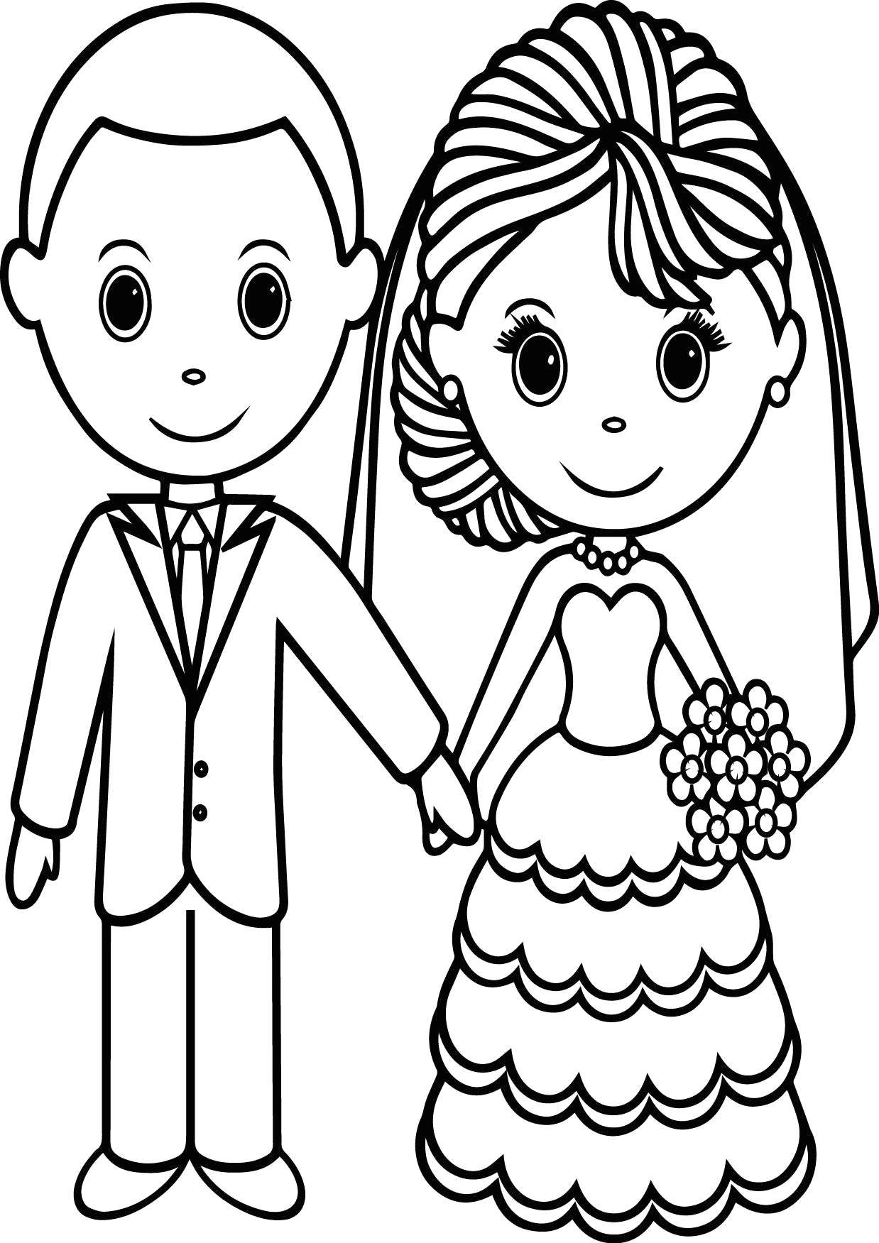 Free Printable Bride and Groom Coloring Pages Bride Groom Coloring Page at Getcolorings
