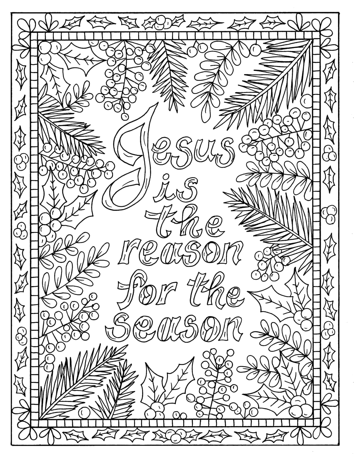 5 christian coloring pages for christmas