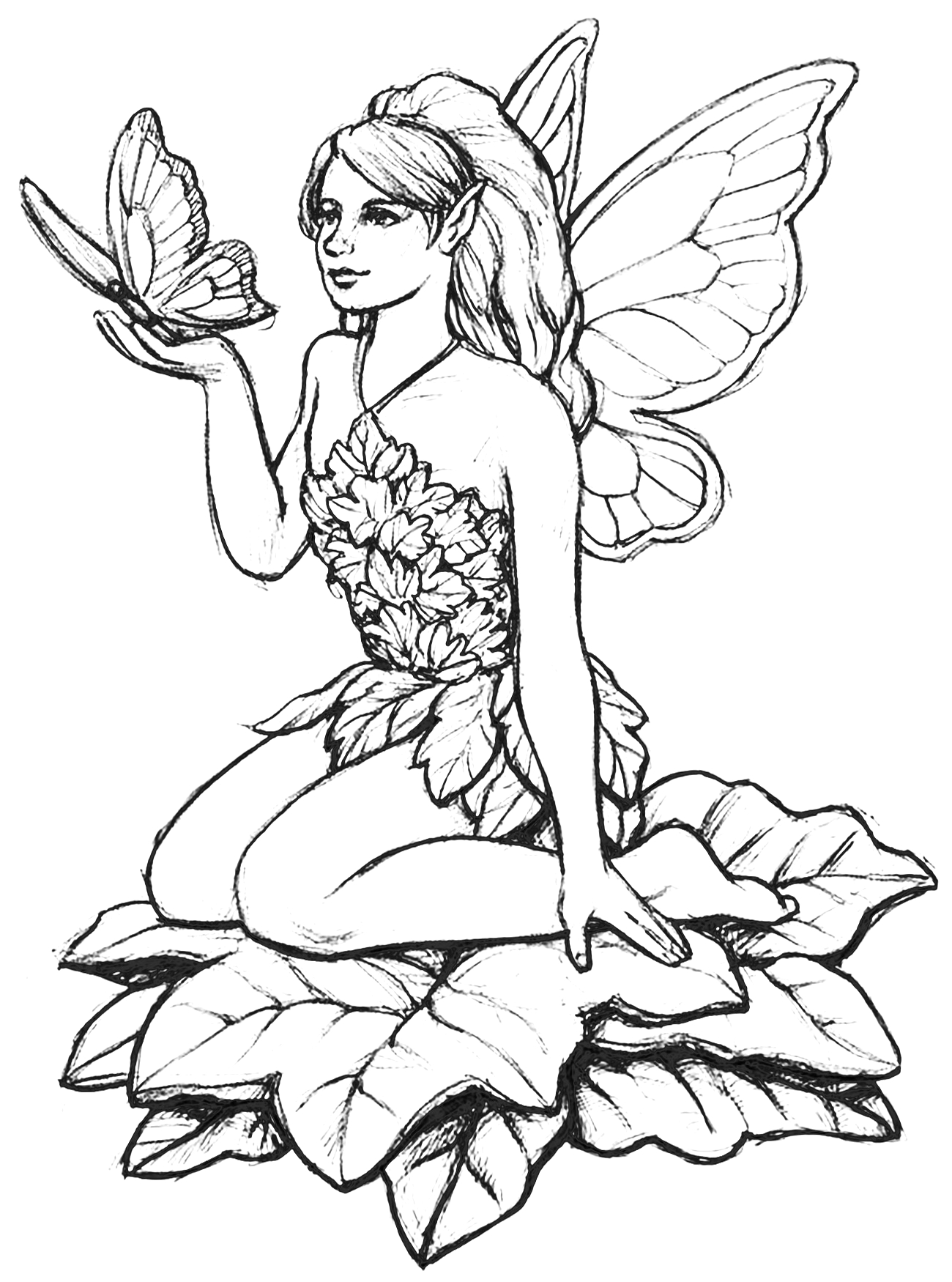 Free Printable Coloring Pages Of Fairies for Adults Fairy Coloring Pages for Adults Best Coloring Pages for Kids