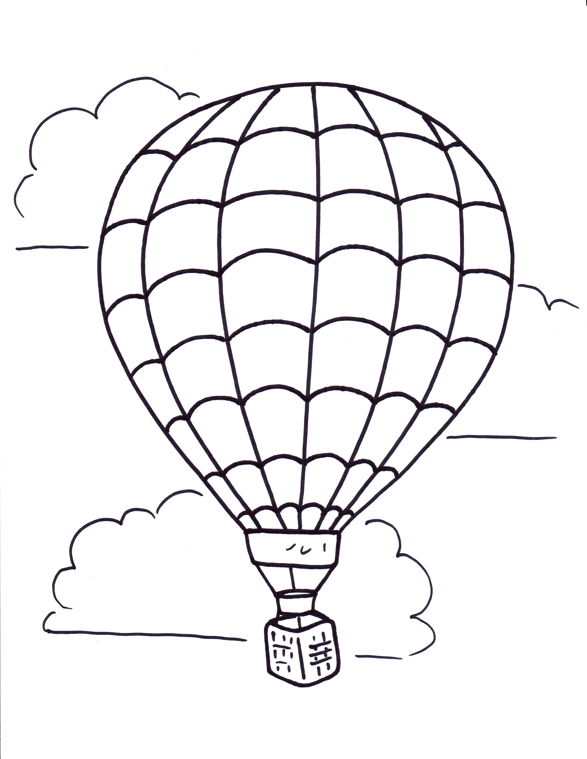 Free Printable Coloring Pages Of Hot Air Balloons Hot Air Balloon Coloring Pages Free