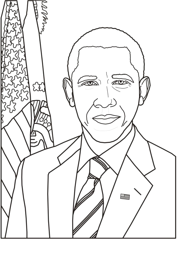 Free Printable Coloring Pages Of President Obama Barack Obama Coloring Pages Best Coloring Pages for Kids