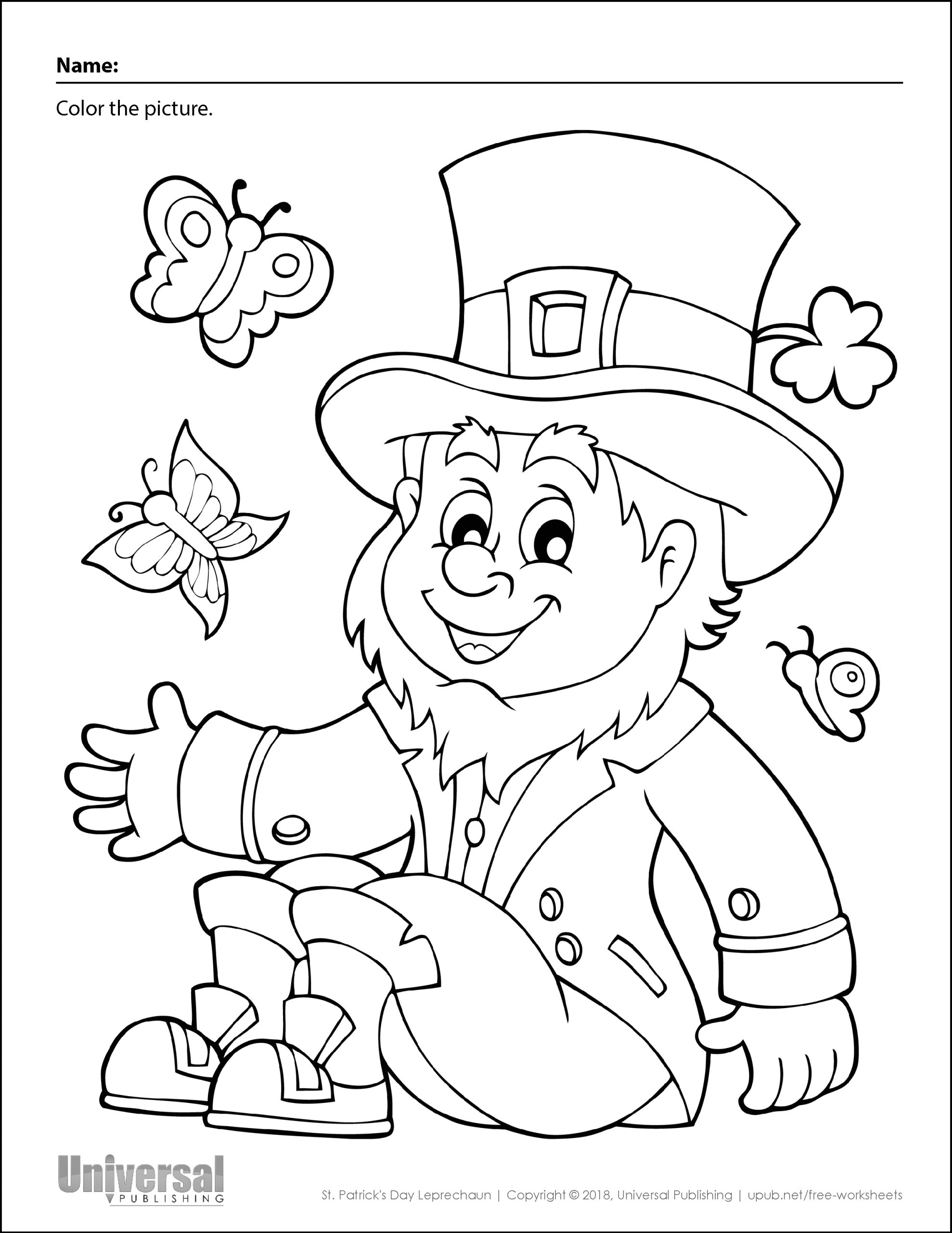 Free Printable Coloring Pages St Patricks Day St Patrick S Day